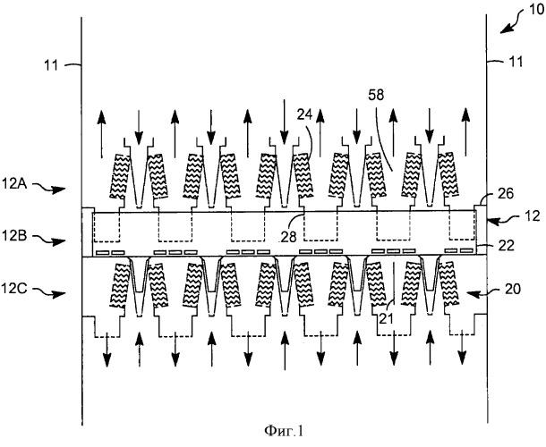 Усовершенствованные контактные ступени для устройств со спутным контактированием