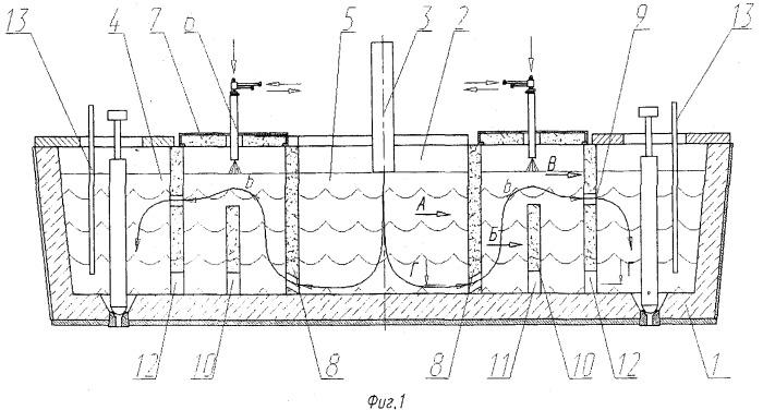 Двухручьевой промежуточный ковш установки непрерывной разливки стали