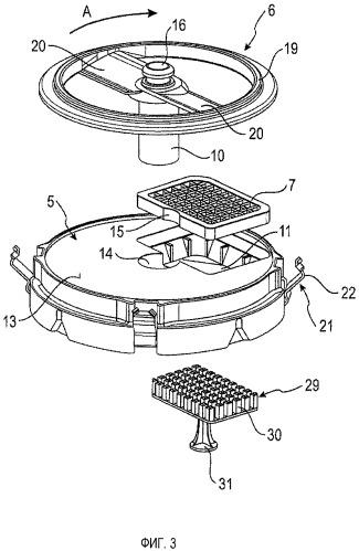 Устройство для нарезания продуктов, в частности для нарезания кубиками пищевых продуктов, и кухонный прибор