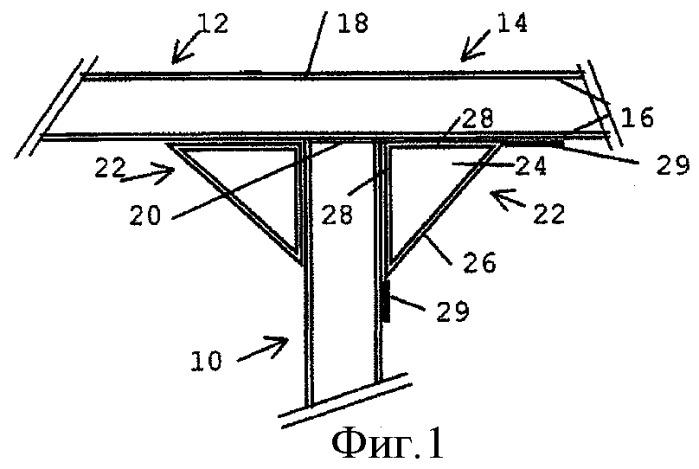 Способ производства объекта из многослойной структуры с усиленным углом и объект такого типа