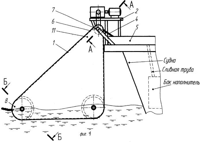 Устройство для удаления поверхностного слоя нефтесодержащих жидкостей