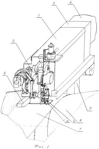 Швейная машина для послойной пришивки текстильных материалов цепным однониточным стежком при намотке на оправку