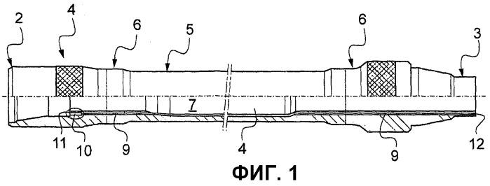 Удерживающее устройство, вставляемое в центральный канал трубного компонента бурильной колонны, и соответствующий трубный компонент бурильной колонны