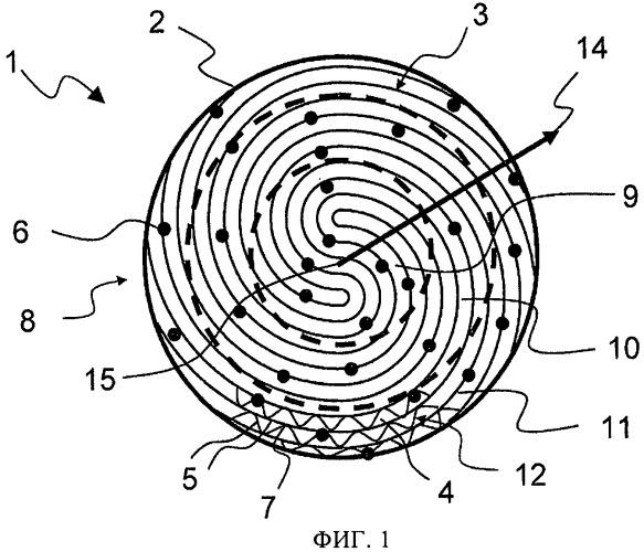 Сотовый элемент с имеющими разное в радиальном направлении исполнение местами соединения