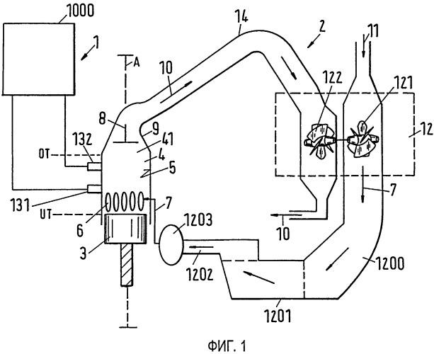 Система контроля рабочих характеристик продувки и способ контроля технологического режима в процессе продувки большого двухтактного дизельного двигателя с прямоточной продувкой
