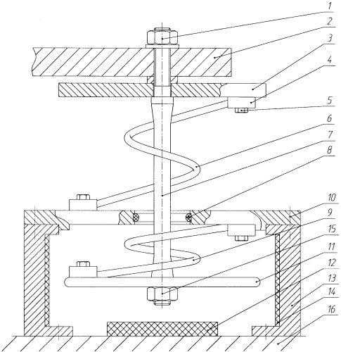 Амортизатор пружинный демпфированный комбинированный с ограничением хода
