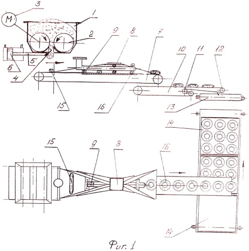 Делительно-закаточный автомат для производства тестовых заготовок бараночных изделий