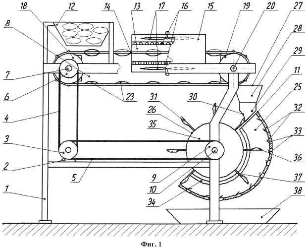 Устройство для шелушения кедровых шишек с их предварительной термической обработкой