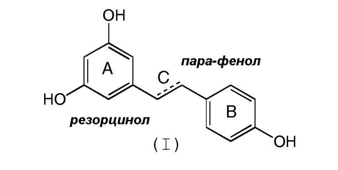 Композиции производных стильбеновых полифенолов и их применение для борьбы с патологиями и со старением живых организмов