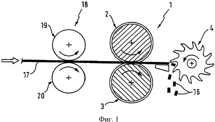 Измельчитель для получения частиц из ленточного материала