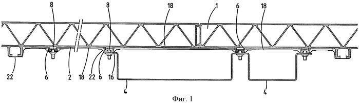Каркас железнодорожного вагона с теплоизоляционными панелями