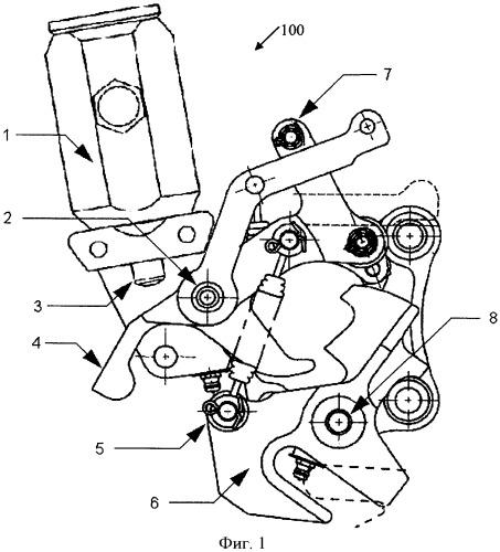 Узел замка шасси, тепловой привод (варианты) и способ приведения в действие механизма замка шасси