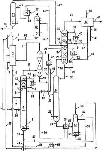 Способ и установка для получения nh3 из содержащей nh3 и кислые газы смеси
