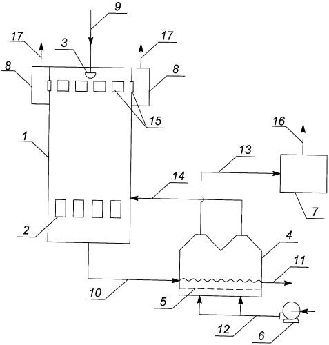 Способ и установка для получения гранулированного удобрения