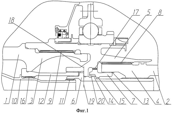 Узел соединения роторов компрессора и турбины газотурбинного двигателя