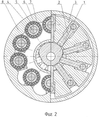 Волновой редуктор с эксцентриковыми роликами
