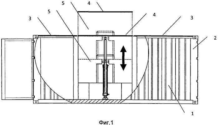 Грузовой контейнер для модуля вооружения и контейнерный комплекс ракетного оружия