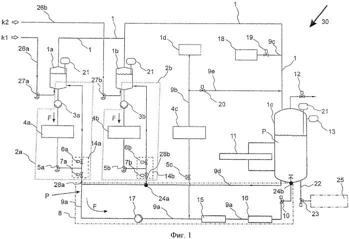 Установка и способ для непрерывного изготовления жидкого продукта