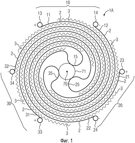 Проводниковая система для резистивного переключательного элемента по меньшей мере с двумя связками проводников из сверхпроводящих проводниковых лент