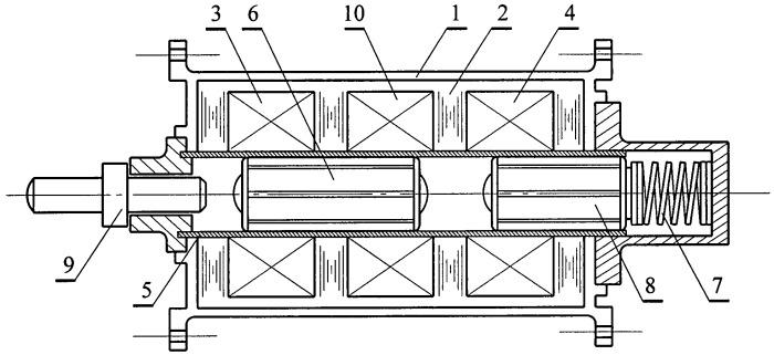 Синхронный электромагнитный ударный механизм
