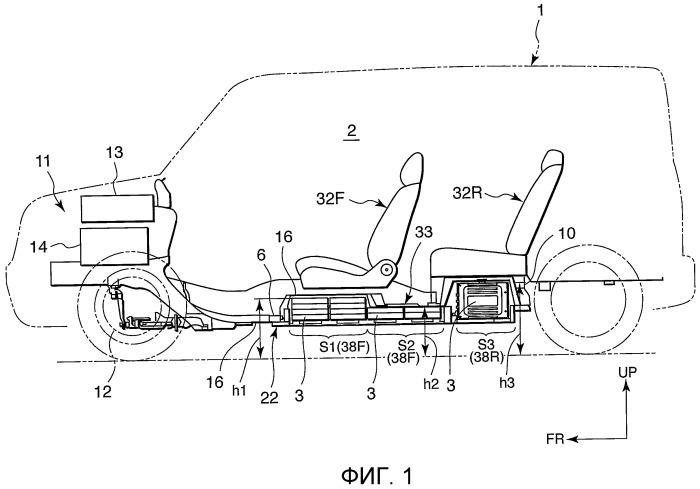 Конструкция для установки аккумуляторов транспортного средства