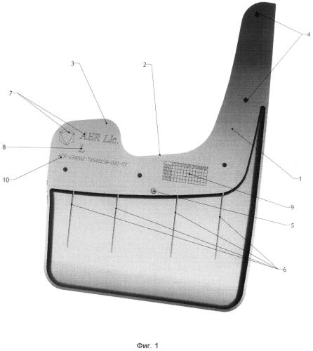 Брызговик универсальный для внедорожников, кроссоверов и мини-вэнов (варианты)