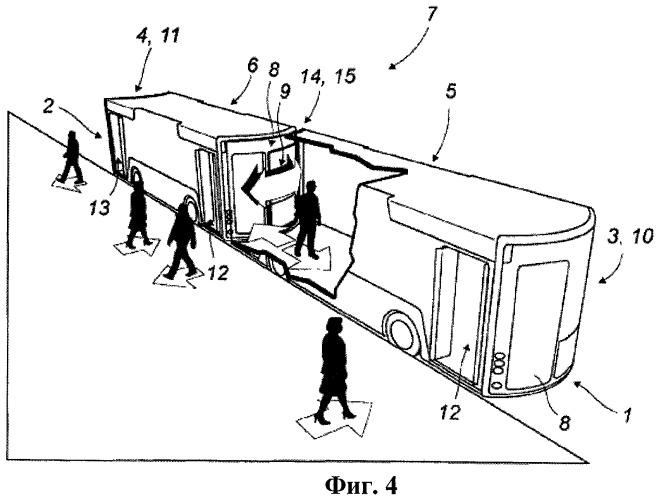 Моторизированное транспортное средство для перевозки пассажиров, способное двигаться самостоятельно, а также шарнирно соединяться с другими транспортными средствами для образования автопоезда