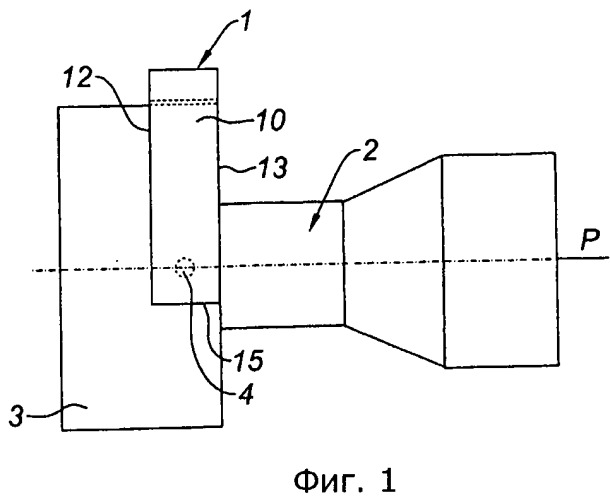 Крепежная конструкция для турбореактивного двигателя