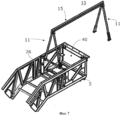 Портальное устройство, предназначенное для монтажа или обслуживания тяжелых частей движущегося устройства