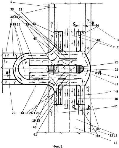 Универсальный разделитель транспортных и пешеходных потоков, устанавливаемый на т-образном перекрестке главной и второстепенной дорог