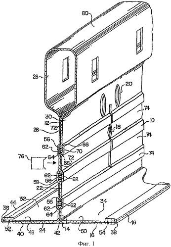 Каркасный элемент для подвесного потолка и способ его изготовления