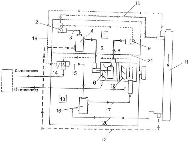 Раздельная жидкостная система охлаждения двигателя внутреннего сгорания