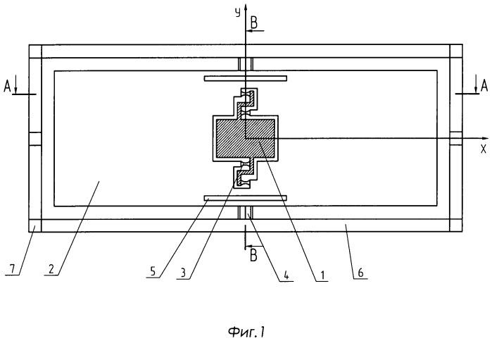 Чувствительный элемент микромеханического акселерометра