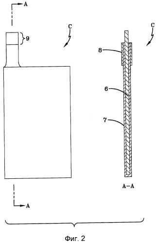 Токосъемник отрицательного электрода для гетерогенного электрохимического конденсатора и способ его изготовления