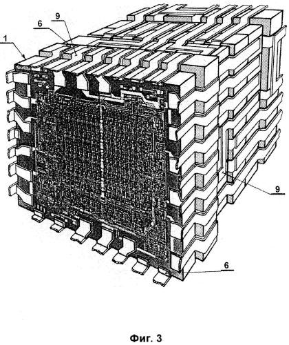 Способ сборки трехмерного электронного модуля