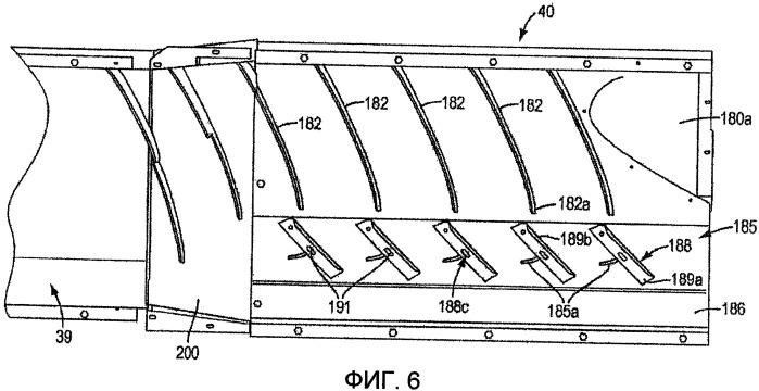 Система регулируемых лопаток для корпуса аксиального ротора сельскохозяйственного комбайна