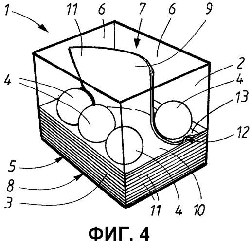 Выдачное устройство для сложенных и вложенных одна в другую салфеток