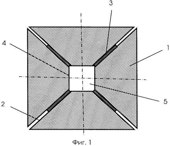Запирающая прокладка для многопуансонного устройства высокого давления и высоких температур