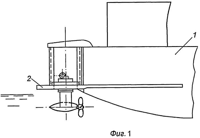 Кормовая оконечность судна с движительно-рулевым комплексом