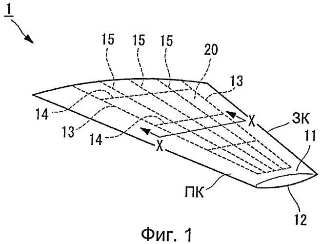 Бак из композиционного материала, крыло и способ изготовления указанного бака