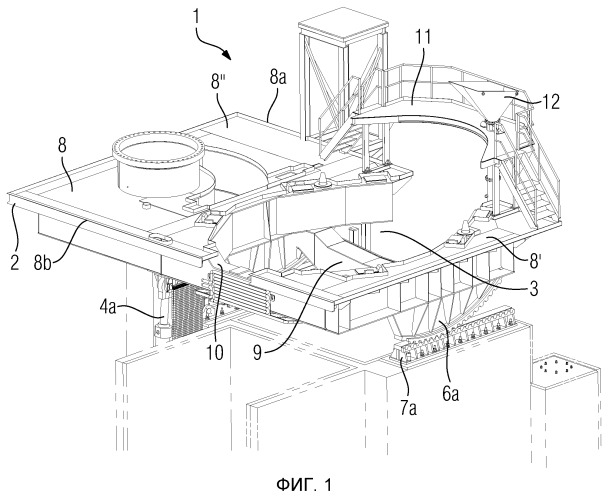 Устройство для опрокидывания металлургического плавильного сосуда, металлургическая плавильная система и способ с применением такой плавильной системы