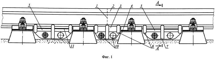 Силовая опорная система для рельсового стыка