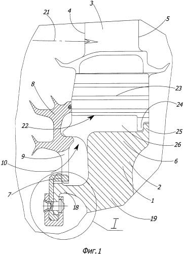 Ротор турбины турбореактивного двигателя