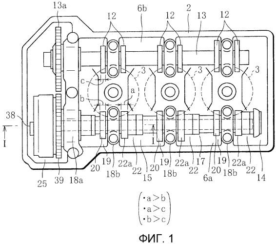 Устройство регулируемых клапанов для двигателя внутреннего сгорания