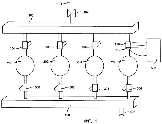 Комплект клапанов газовых форсунок, способ управления работой клапанов газовых форсунок и устройство для управления работой инжекторной системы подачи топлива