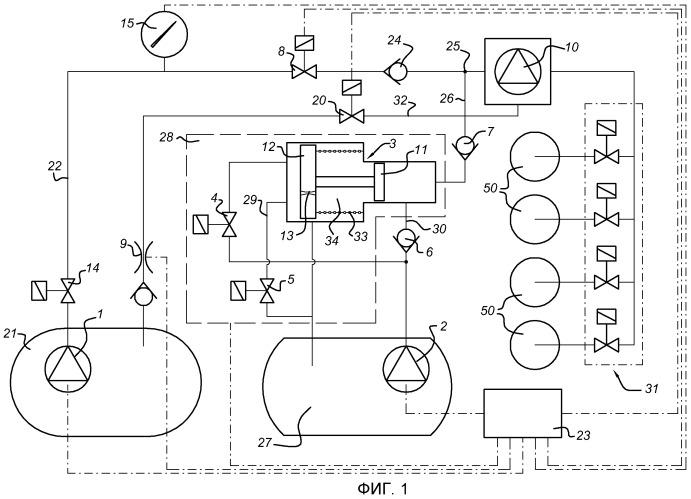 Устройство и способ для двигателя внутреннего сгорания с прямым впрыском двух видов топлива