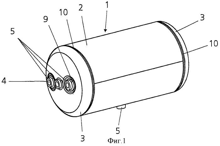Ресивер для сжатого воздуха для грузовых автомобилей и способ его изготовления