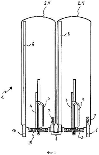 Плоский водонагреватель с баками-накопителями уменьшенной вместимости