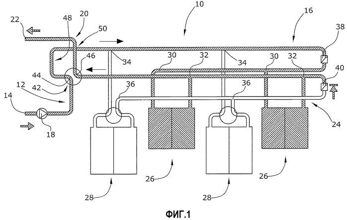 Трубопроводная система для темперирования зданий