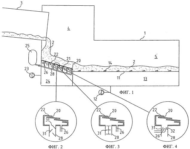 Способ и холодильник для охлаждения горячего сыпучего материала